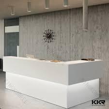 china white artificial stone commercial salon reception desk china reception counter office desk