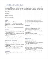 Birthing Plan Template Natural Birth Plan Template For Hospital Templates Instagram