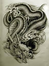эскиз японского дракона дракон японский дракон татуировки и