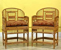 Antique Bamboo Chairs Pair Of Vintage Pavilion Style Armchairs For Sale Rattan
