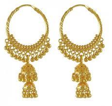 22k gold chandelier hoops
