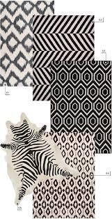 lulu and georgia nursery area rugs neutral black and white