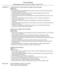 Fabrication Engineer Resume Sample Fabrication Engineer Resume Samples Velvet Jobs 1