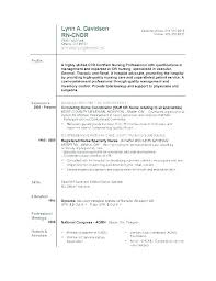 Resume Examples For Rn Enchanting Examples Of Nursing Resumes Experienced Nurse Resume Examples Of