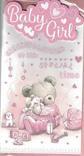 New Baby Girl Card Congratulations On The Birth Of Your Precious Daughter Lovely Quality New Baby Card