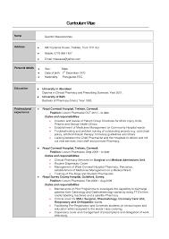 Sample Resume: Clinical Pharmacist Cv Exle Hospital Resume.