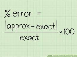 calculating the values part of the equation image titled calculate percentage error step 1