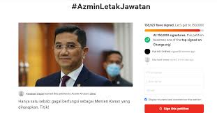 Nearly 140,000 signed online petition calling for Azmin Ali to resign