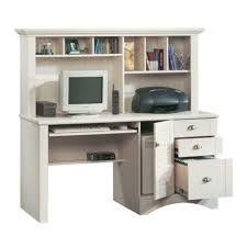sauder harbor view computer desk with hutch antiqued white ca home kitchen