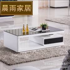 Combination coffee table TV cabinet modern minimalist fashion paint Coffee  Table glass coffee table living room tables