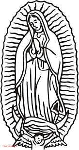 Beautiful Our Lady Of Guadalupe Coloring Page Bestcolorings