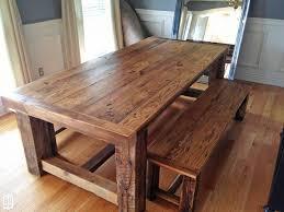 diy farmhouse dining table bench
