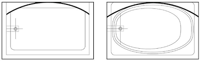 curved shower rod installation review the curved shower rod mounting instructions above to determine proper rod