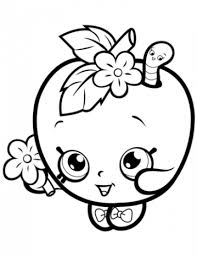 Shopkins Coloring Pages Apple Coloring Pages For