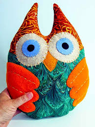 Quilt Inspiration: Free Pattern Day: Owls ! & Owl Plushie, free template and tutorial by Denise Ferragamo Adamdwight.com
