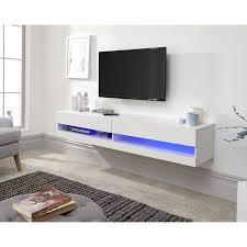 galicia wall mounted white gloss tv
