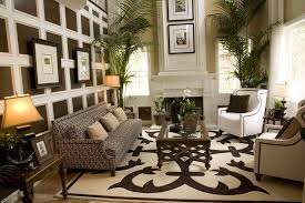 image of living room with area rugs in homes