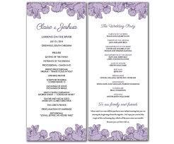 wedding program template free word microsoft word wedding program templates diy purple poppy flowers