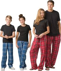 Pants Shirt Plaid Flannel Lounge Pajama Pants In 30 Colors W Choice Of 22 Sport Prints On Leg Or Rear