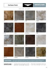 Westcoat Epoxy Color Chart Craftsman Finish Designer Epoxy Finishes Inc