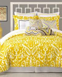trina turk ikat twin xl comforter set mustard yellow white