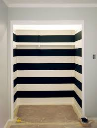 black and white striped wall after tape removal