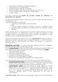 Personal Business Letter Parts Of A Worksheet Genre