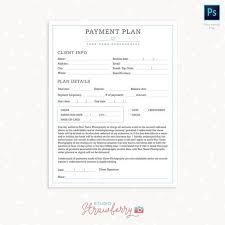 Payment Plan Template Payment Plan Templates Photography Forms Payment Plan Form For Photographer Photoshop Template For Photographers Payment Sign Up Form