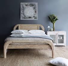 whitewashed bedroom furniture. Teak Plough Bed | Australian King Size - Whitewash-Nomad Village-Originals Furniture Whitewashed Bedroom