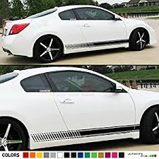 nissan altima coupe 2013. 2x decal sticker vinyl side racing stripes compatible with nissan altima coupe 20082013 2013
