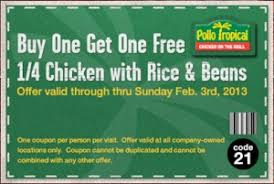 good works with pollo tropical to offer users the best coupon akes a