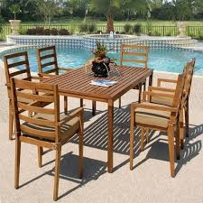 counter height outdoor dining table sequoia 7 piece set 1 rectangular image sets