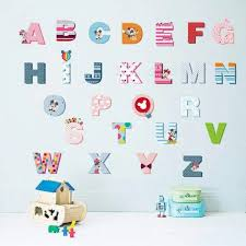 26 letters alphabet wall stickers for