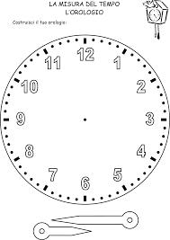 Orologio Da Stampare Per Imparare A Leggere Lora Italiano L2ls