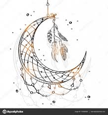 Drawn Dream Catchers Hand drawn Dream Catcher with Crescent Moon Stock Vector 91