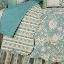 Natural Shells Coastal Quilt Bedding & Natural Shells Quilt Aqua Adamdwight.com