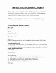 Interior Design Resume Objective Sample Resume For Junior Interior