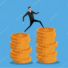 ✓ Man business on coin money pile vector illustration eps 10 premium vector  in Adobe Illustrator ai ( .ai ) format, Encapsulated PostScript eps ( .eps  ) format