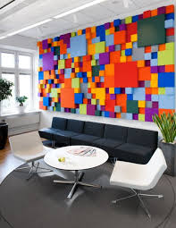 ... Modern Stylish Office Wall Art Ideas Three Dimensional Look Poping  Multiple Color Many Decorative Plants Black ...