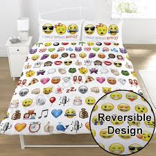 emoji multi duvet cover set reversible bedding smiley faces single double
