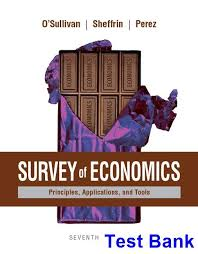 Survey Test Book Answers Survey Of Economics Principles Applications And Tools 7th Edition