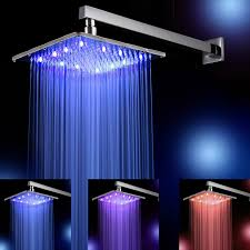 rain shower head with lights. 10 inch 25 cm * 25cm rain led shower head with arm .temperature control lights h
