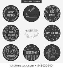Set Christmas Sale Stickers Tags Labels Stock Vector Royalty Free