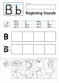 Cut And Paste Letter B Worksheet Worksheets for all | Download and ...