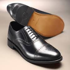 brogues with leather soles