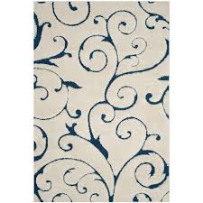 safavieh florida cream blue 6 ft x 9 ft area rug
