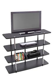 Large Black Tv Stand Amazoncom Convenience Concepts Designs2go Highboy Tv Stand X