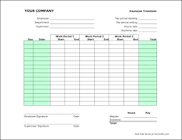 Bi Monthly Timesheet Template