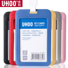 Badge Office Us 1 4 11 Off Pp Exhibition Cards Id Card Holder Name Tag Staff Business Badge Holder Office Supplies Stationery Wholesale In Badge Holder