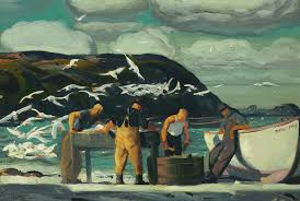 george bellows painting cleaning fish by george bellows